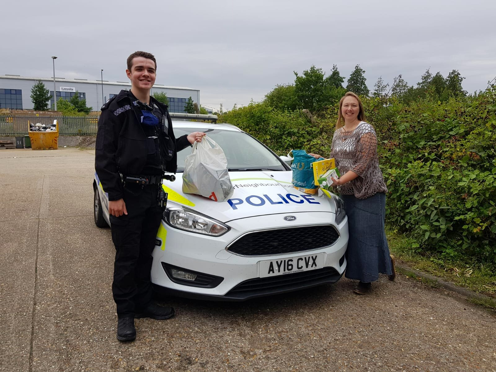 PC Tully and Justine with car