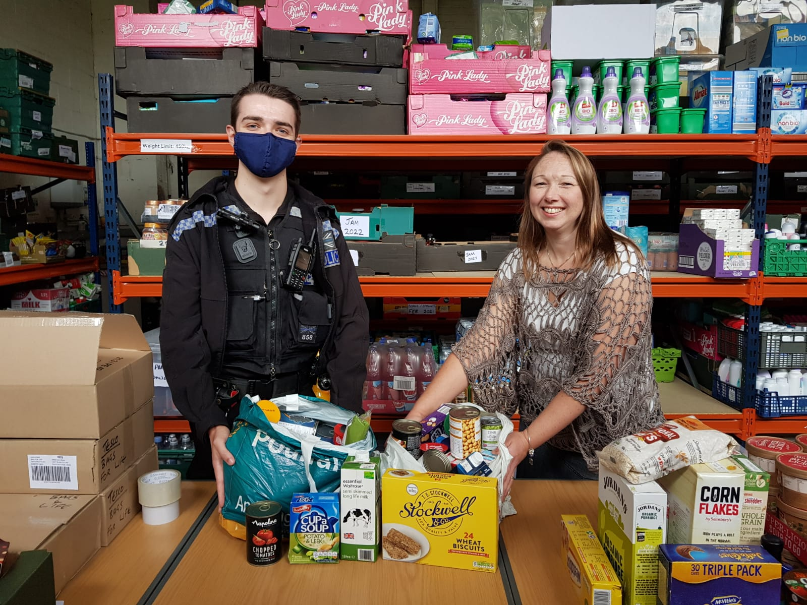 PC Tully and Justine in foodba